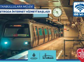 İBB METROSUNA 'İNTERNET' GELDİ